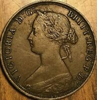 1864 NEW BRUNSWICK LARGE CENT PENNY COIN