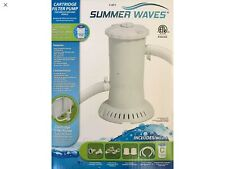 INTERTEK SUMMER WAVES CARTRIDGE FILTER PUMP-ABOVE GROUND POOLS