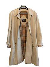 Authentic Vintage Burberry Nova Check Raincoat 10 Long