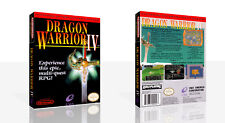 Dragon Warrior IV NES Replacement Spare Game Case Box + Cover Art Work (No Game)