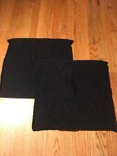 IKEA Solid Black Cotton Sofa Throw Pillow Covers 18.5 x 19.5 VGC