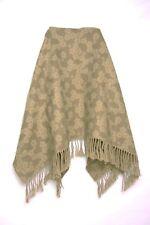 Vert kaki en tricot imprimé floral hiver châle W Pompons Chic Décontracté (s59)
