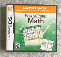 Personal Trainer: Math Nintendo DS Complete w/ Manuals Fast Ship TESTED Kageyama
