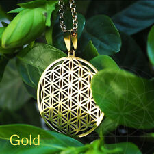 Flower of Life Pendant Sacred Geometry Silver Chain Necklace Tassel Earrings u