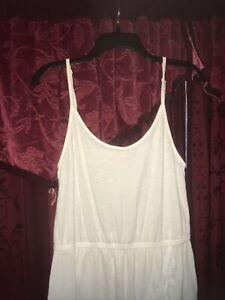 Victoria's Secret Swim Beach Cover Up   Dress Size Small White Fringe