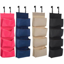4 TIER OVER THE DOOR HANGING HOOKS ORGANISER STORAGE POCKETS WARDROBE UNIT SHOES