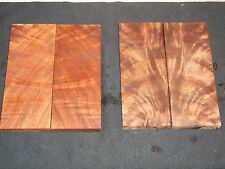 1) Pair of Bookmatched Highly Figured Black Walnut Crotchwood Burl Knife Scales