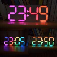 Large 3D LED Digital Clock Kit Table Timer DIY Customizable Rainbow Colors Gift