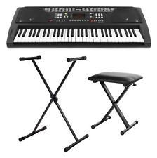 61 Clés électronique Clavier Piano numérique banc Clavier Support Value Pack Noir