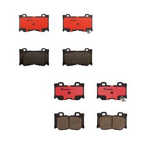 Brembo Front & Rear Ceramic Brake Pad Set Kit For Nissan 370Z Base Nismo Touring