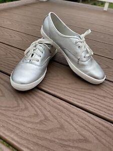 Keds Kate Spade-Silver size 9