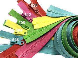 "2pcs 18"" Vislon Zipper YKK #5 Medium Weight Molded Plastic Separating Made USA"