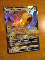 NM Pokemon PERSIAN GX Card UNBROKEN BONDS Set 149/214 Sun and Moon Ultra Rare