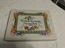 Vtg 1997 Our Wedding Anniversary Memory Book Album Scrapbook Floral by Talus