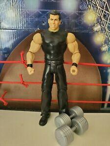 WWE Mattel Loose Vince McMahon Wrestling Figure W/ Dumbells WWF