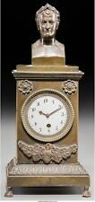 A French Second Empire Patinated Bronze Figural Napoleon Clock, Thi. Lot 65210