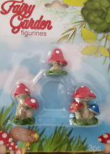 Fairy Garden Figurines Mushrooms 3/PC