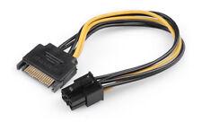 6 pin PCI-e scheda grafica maschio a 15 Pin Linea di alimentazione SATA Cavo Adattatore Del Connettore