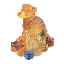 Liuli Crystal Chinese Zodiac Dog Ornament Table Decorations Personalized Gifts