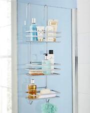 3 Tier Metallic Hanging Shower Caddy Bathroom Storage Shelf Organiser Basket