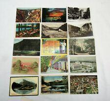 Postcard lot 85+ antique 1910s 1920s 1930s divided undivided rppc linen litho