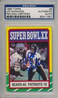 1986 Topps Football Jim McMahon Signed Card #8 PSA/DNA Vintage Auto To Joe