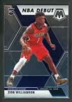 2019-20 ZION WILLIAMSON PANINI MOSAIC NBA DEBUT ROOKIE RC #269