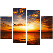 Sea Wave Sunset Landscape Canvas Oil Painting Print Picture Wall Art Decoration