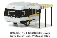 Greenlight 1/64 Hitched Homes 3 1959 Catolac Deville Travel Trailer 34030 B