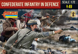 Strelets 1/72 Confederate Infantry in Defence American Civil War # 249