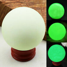 1X 35mm Luminous Crystal Ball Sphere Healing Glow in The Dark Stone With Base