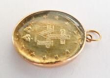 Pendentif religieux médaille OR + vermeil 19e siècle Sainte Vierge 1830 gold