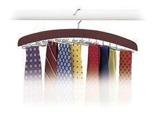 Hardwood Walnut 24 Tie Hanger Clost Accessories Men's Necktie Belt Organizer