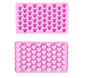 Paquet De 2 Silicone 55 Mini Heart Cuisson Chocolat Moule Cire Fondre Artisanat