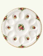 Royal Albert Old Country Roses Deviled Egg Dish NEW IN THE BOX