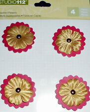 K & Co. Studio 112   *RED LAYERED FLOWERS*  Beautiful  Dimensional Stickers