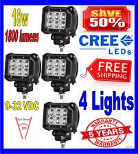 4X 4INCH 18W CREE LED WORK LIGHT BAR SPOT OFFROAD UTE REVERSING TRUCK POD