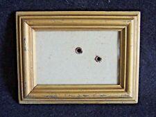 joli petit cadre ancien en bois doré avec son verre idéal portrait 13x10