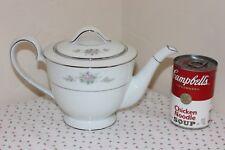 Noritake Tea Pot, Teapot & Lid, Astor Rose Pattern, 4 Cup Capacity, Excellent!