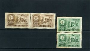 TACTOR, TRANSPORTATION OF COLOMBIA ''CAJA AGRARIA  25th ANNI''' > pair  1957
