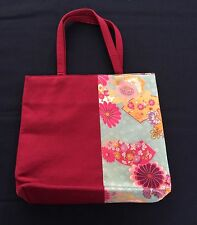 New Japanese kimono bag with handles, lined, imported from Japan, sensu (Q917)