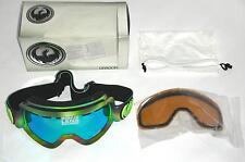 Dragon Alliance D2 Aurora Boreal Ski Goggles Medium Fit Multi Green Ion/Amber