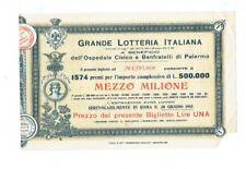 PALERMO - GRANDE LOTTERIA ITALIANA - BENEFICIO OSPEDALE CIVICO E BENFRATELLI 915