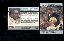 1990 Pro Set VINCE LOMBARDI Green Bay Packers Super Bowl XXV Commemorative Card