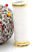 GUTERMANN -  Sew All Thread -100% Polyester- 100m - WHITE #800