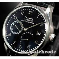 43mm parnis black dial Luxury power reserve ST2530 automatic mens watch P207