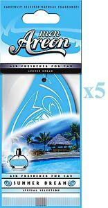 5x Mon Areon Summer Dream Car Air Fresheners Quality Perfume Scent