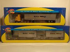 "Athearn HO/1:87 Custom Built Freightliner Tractors w/Trailers ""Lee Way"" 2pk."