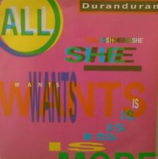 """DURAN DURAN - All She Wants Is ~ 7"""" Single PS"""