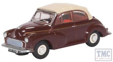 76MMC006 Oxford Diecast 1:76 Scale Morris Minor Convertible Soft Top Maroon